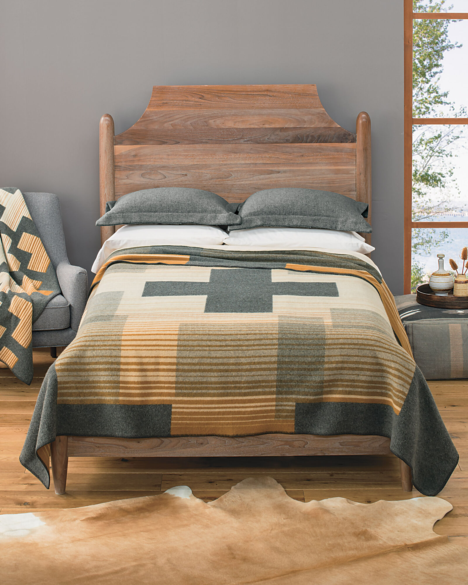 Compass Point Blanket Collection Wool Bedding