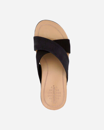 ALTERNATE VIEW OF WOMEN'S GULF SHORE CROSSOVER SANDALS IN BLACK