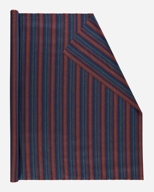 STRIPE FABRIC IN NAVY/RED