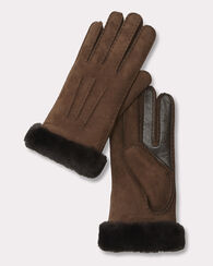 SHEEPSKIN GLOVES, CHOCOLATE, large