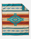 ADDITIONAL VIEW OF PAGOSA SPRINGS BLANKET IN TURQUOISE