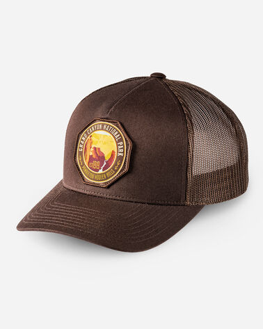 NATIONAL PARK TRUCKER HAT IN BROWN GRAND CANYON