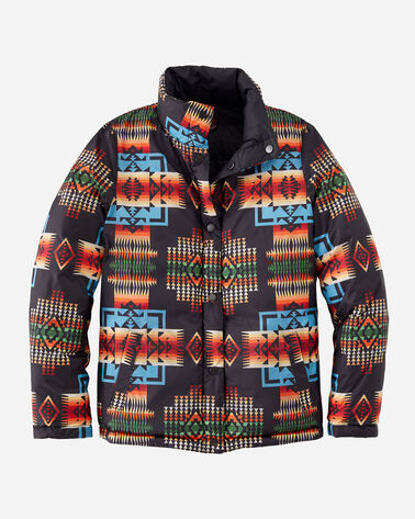 ALTERNATE VIEW OF WOMEN'S PACKABLE DOWN REVERSIBLE JACKET IN BLACK CHIEF JOSEPH
