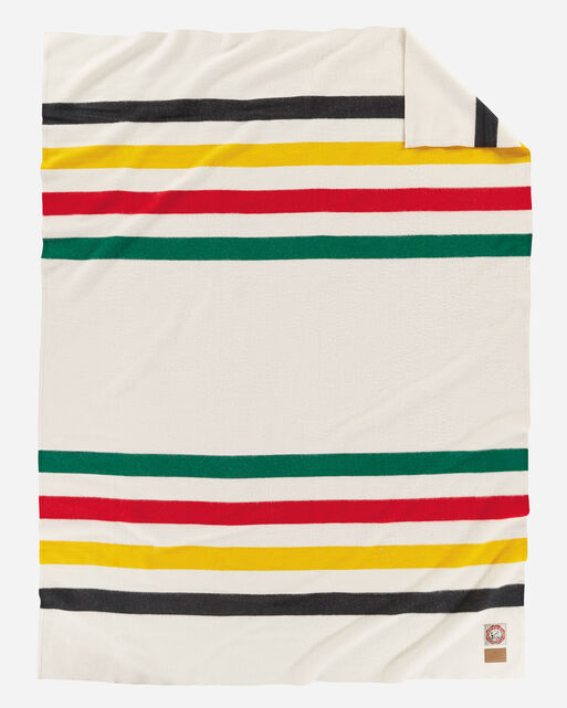 GLACIER NATIONAL PARK BLANKET, WHITE, large