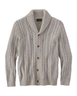 MEN'S FISHERMAN CARDIGAN IN GREY