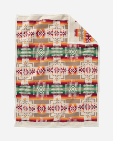 ADDITIONAL VIEW OF CHIEF JOSEPH CRIB BLANKET IN WHITE