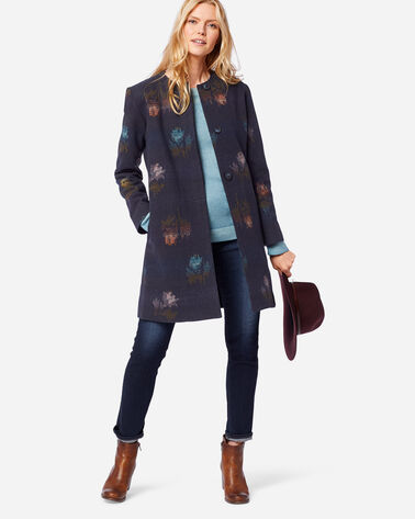 ADDITIONAL VIEW OF WOMEN'S ROSE CITY WOOL COAT IN NAVY
