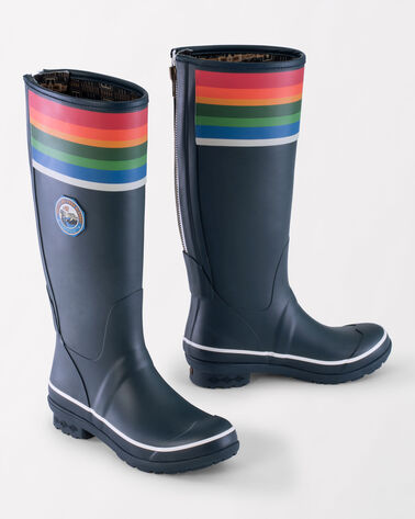 ALTERNATE VIEW OF NATIONAL PARK TALL RAIN BOOTS IN CRATER LAKE BLUE