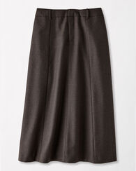 WORSTED WOOL FLANNEL LONG BOOT SKIRT