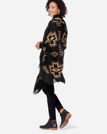 HARDING FEATHERWEIGHT WOOL SCARF, BLACK HARDING, large