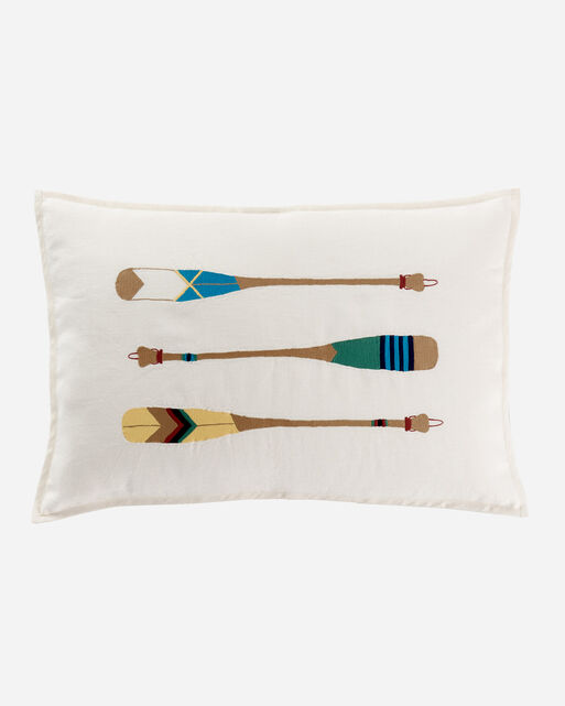 PADDLES EMBROIDERED PILLOW