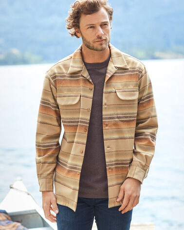 ADDITIONAL VIEW OF MEN'S BOARD SHIRT IN TAN OMBRE STRIPE