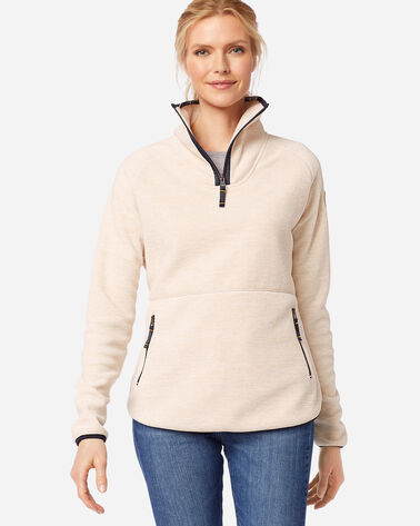 WOMEN'S FLEECE MOCKNECK IN IVORY HEATHER