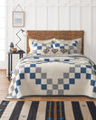 ADDITIONAL VIEW OF MODERN HERITAGE PIECED QUILT SET IN IVORY MULTI