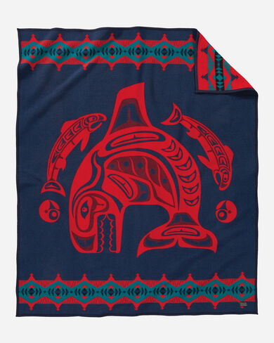 SEA CHIEF BLANKET IN NAVY/RED