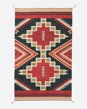HEARST GINDA VERDE RUG IN NATURAL/RED