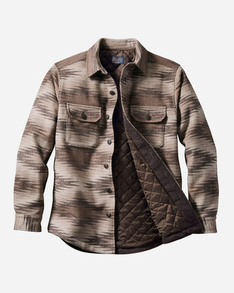 ADDITIONAL VIEW OF MEN'S MAGIC VALLEY QUILTED SHIRT JACKET IN BROWN