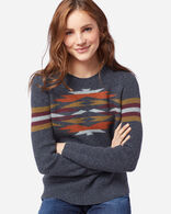 WOMEN'S DESERT GEM WOOL SWEATER IN INDIGO