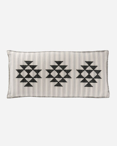 LYONS CROSS STITCH HUG PILLOW IN IVORY