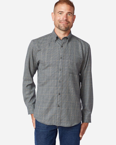 AIRLOOM MERINO SIR PENDLETON SHIRT IN GREY MIX MULTI CHECK