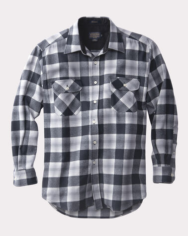 ULTRA-FINE MERINO MAVERICK SHIRT, MIDNIGHT/BLACK PLAID, large