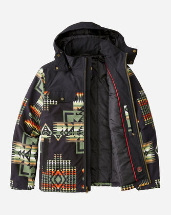 ALTERNATE VIEW OF MEN'S BLACK HILLS RIPSTOP JACKET IN BLACK CHIEF JOSEPH