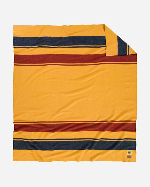 YELLOWSTONE NATIONAL PARK BLANKET, MARIGOLD, large