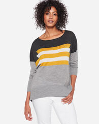 GRAPHIC MERINO PULLOVER, GREY/CURRY, large
