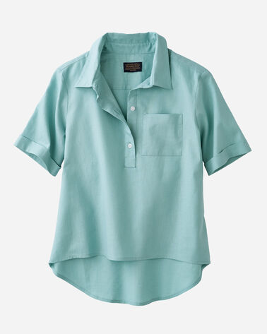 HI-LOW SHIRT, AQUA, large