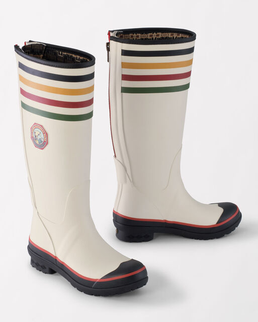 NATIONAL PARK TALL RAIN BOOTS, GLACIER PARK WHITE, large