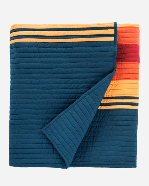 GRAND CANYON NATIONAL PARK QUILT SET, GRAND CANYON NAVY, large