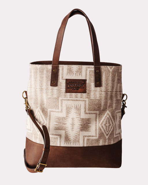 HARDING LONG TOTE, BEIGE, large