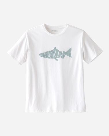 MEN'S STEELHEAD GRAPHIC TEE IN WHITE