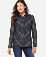 TINA BIAS PLAID SHIRT