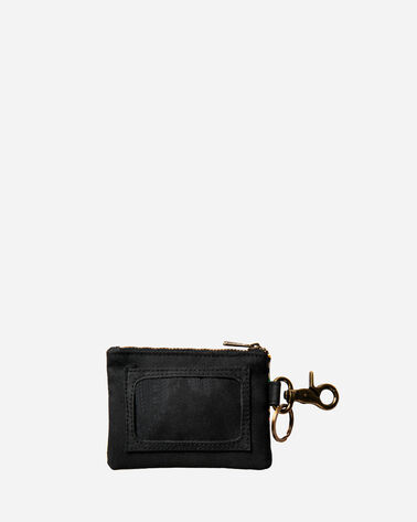 ADDITIONAL VIEW OF TUCSON CANOPY CANVAS ID POUCH KEY RING IN BLACK/MULTI