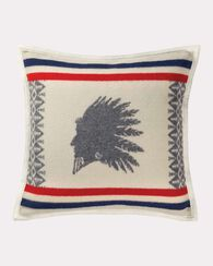 HEROIC CHIEF PILLOW, IVORY, large
