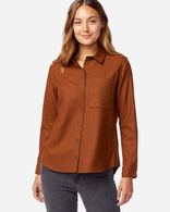 WOMEN'S WESTON WOOL SHIRT IN COGNAC