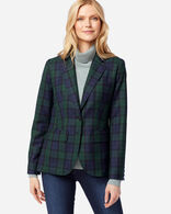 WOMEN'S BRYNN WOOL BLAZER, BLACK WATCH TARTAN, large