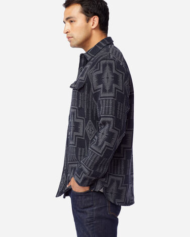 ALTERNATE VIEW OF MEN'S DOUBLESOFT FLANNEL BEACH SHIRT IN BLACK/GREY HARDING