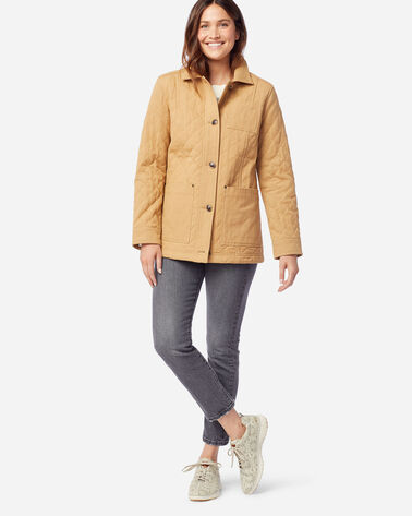 ALTERNATE VIEW OF WOMEN'S FERN QUILTED CANVAS BARN COAT IN CHAMOIS