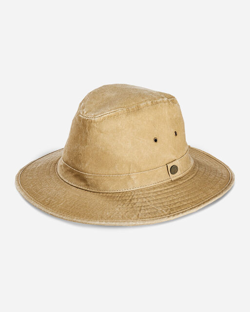 CANVAS INDY HAT, TAN, large