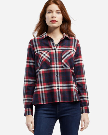 ULTRAFINE MERINO PIPER SHIRT, RED/BLACK PLAID, large