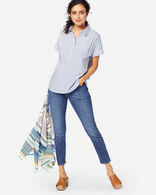 WOMEN'S SHORT-SLEEVE POPOVER SHIRT