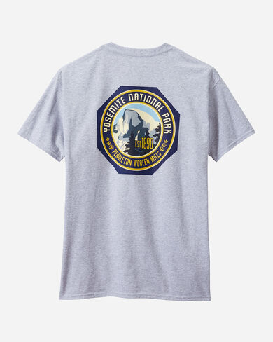 ALTERNATE VIEW OF MEN'S YOSEMITE PARK TEE IN GREY HEATHER