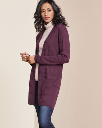 TEXTURED SILK-WOOL CARDIGAN