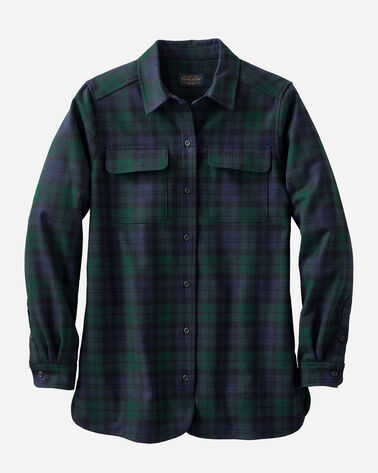 WOMEN'S BOARD SHIRT, BLACK WATCH TARTAN, large