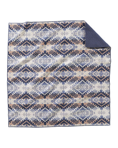 JOURNEY WEST COVERLET SET IN VINTAGE INDIGO