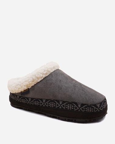 ALTERNATE VIEW OF WOMEN'S DORMER MULE SLIPPERS IN STEEL GREY
