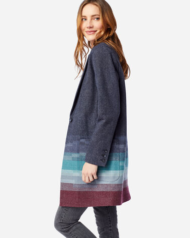 ALTERNATE VIEW OF WOMEN'S SKYLINE WOOL JACKET IN NAVY SKYLINE JACQUARD