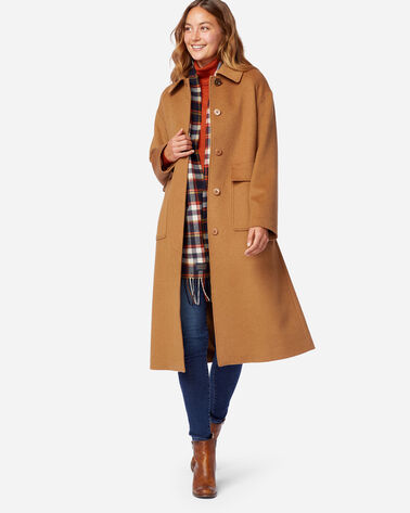 LONG WOOL COAT IN CAMEL